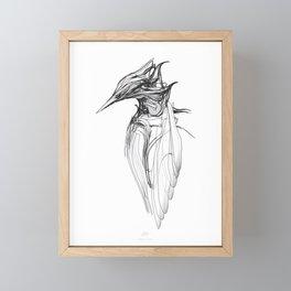 Kingfisher 1a. Black on white background-(Red eyes series) Framed Mini Art Print