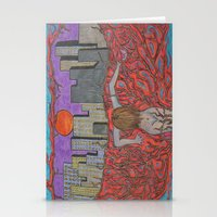 sin city Stationery Cards featuring Sin Beneath the City by Labartwurx