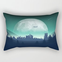 City Landscape Rectangular Pillow