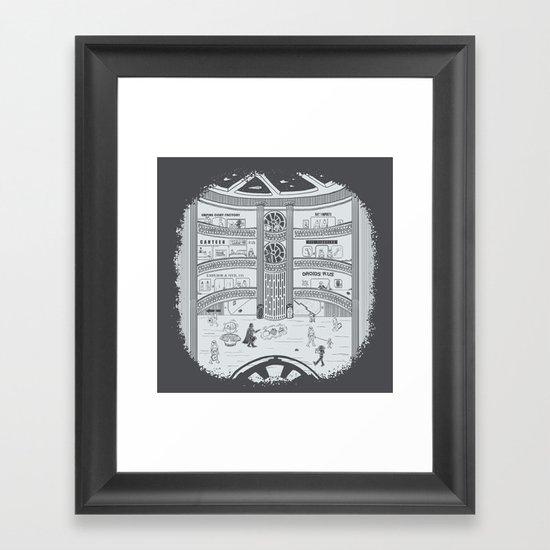 Darth Mall Framed Art Print