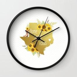 Home Sweet Texas Wall Clock