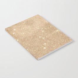 Gold Glitter Chic Glamorous Sparkles Notebook