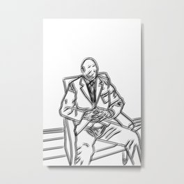 Business Man Portrait Metal Print