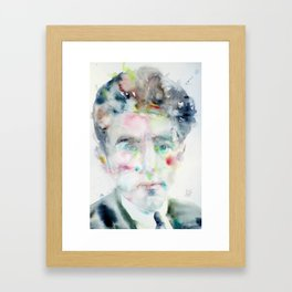 JEAN COCTEAU - watercolor portrait Framed Art Print