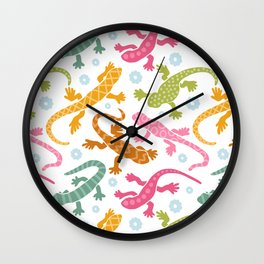Colourful Lizard  Wall Clock