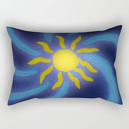 Sun Glow Rectangular Pillow