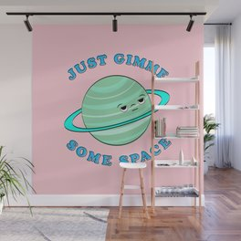 Just Gimme Some Space - Pink & Green Wall Mural