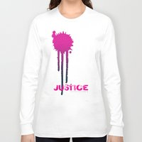 justice Long Sleeve T-shirts featuring JUSTICE by TheCore