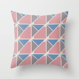 Retro Geometry surface pattern (Blue-pink) Throw Pillow