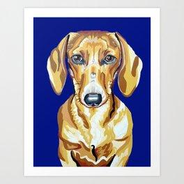 Red Dachshund Portrait Art Print