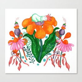 Sleepy Garden Canvas Print