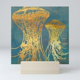 Deep Sea Life Jellyfish Mini Art Print