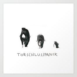 Torschlusspanik Art Print