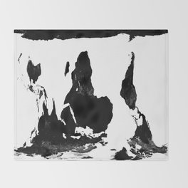 World Map White & BlacK Throw Blanket