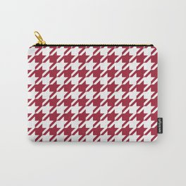 Bama crimson tide college state pattern print university of alabama varsity alumni gifts houndstooth Carry-All Pouch