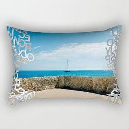 Old Town Antibes Lookout Rectangular Pillow