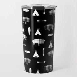 Buffalo Tribe on Black Travel Mug