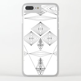 Abstract and Geomtric Faces Clear iPhone Case