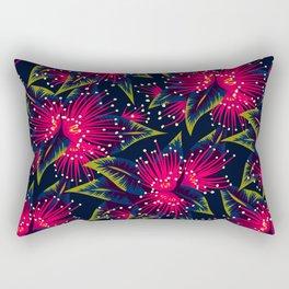 New Zealand Rata floral print (Night) Rectangular Pillow