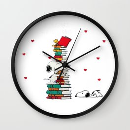 snoopy book Wall Clock