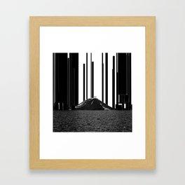 Black Pillars Framed Art Print
