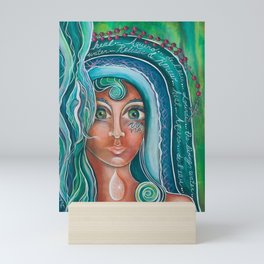 LADY OF LOURDES Mini Art Print