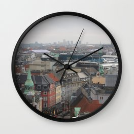 View from the Round Tower Copenhagen 2 Wall Clock