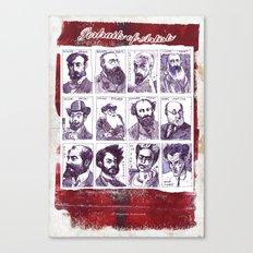Portraits of artists Canvas Print