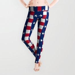 Texas State Flag Leggings