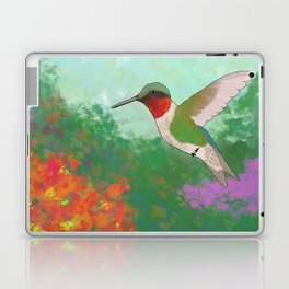 Ruby Throated Hummingbird Laptop & iPad Skin