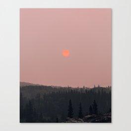 Neon Sun in Glacier National Park Canvas Print
