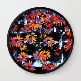 skullflowers Wall Clock
