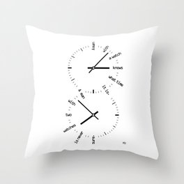 Two Watches Throw Pillow