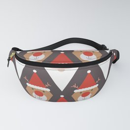 Santa and Rudolph II (Patterns Please) Fanny Pack