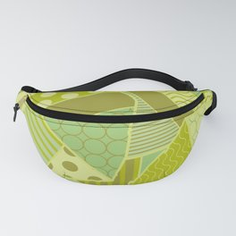 Graphic Leaf Patchwork (Spring Green Bold Colors) Fanny Pack