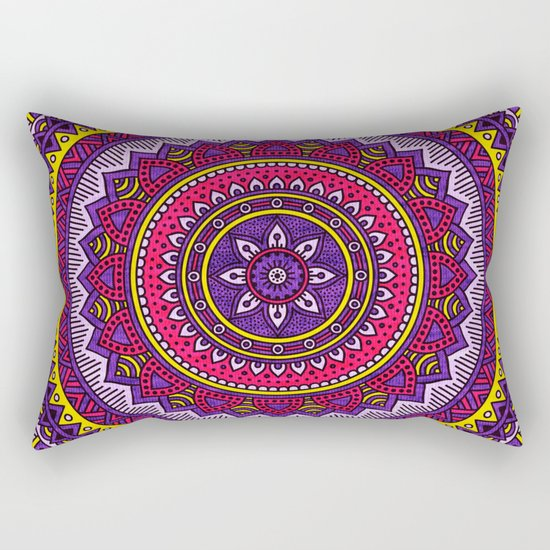 Hippie mandala 40 Rectangular Pillow