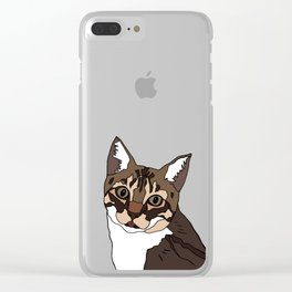Sammy the cat Clear iPhone Case