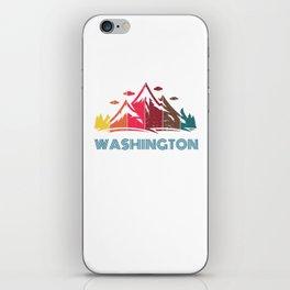 Retro Mountain Washington Design  for Men Women and Kids iPhone Skin