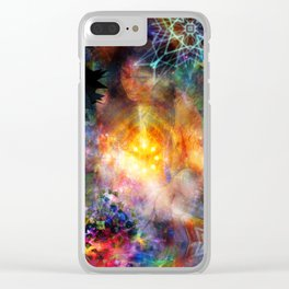 Extra Sensory Perceptions Clear iPhone Case