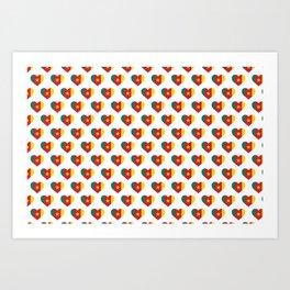 Cameroon Love flagMotif Repeat Pattern design background  Art Print