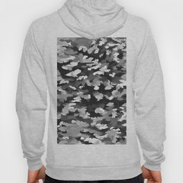 Foliage Abstract Pop Art In Monotone Black and White Hoody