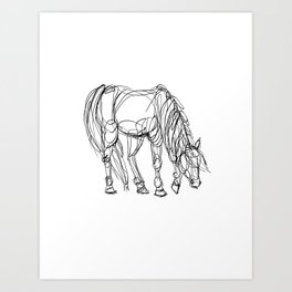 Little Line Horse Art Print