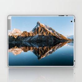 Calm Mountain Lake at Sunset - Landscape Photography Laptop & iPad Skin
