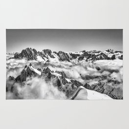 Alps in the Clouds Rug