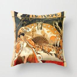 """Théophile Steinlen """"Le Rêve"""" Throw Pillow"""