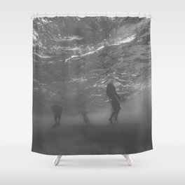 Lifeless Bodies Drown (Black and White) Shower Curtain