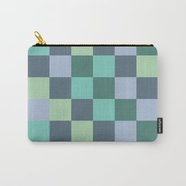 Abstract green squares geometry Carry-All Pouch