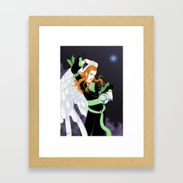 asrael and crystallball Framed Art Print