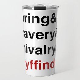 Modern House Traits - Red Travel Mug