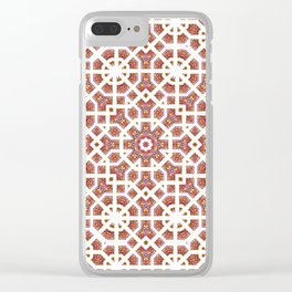 Geometrical Star Pattern Clear iPhone Case